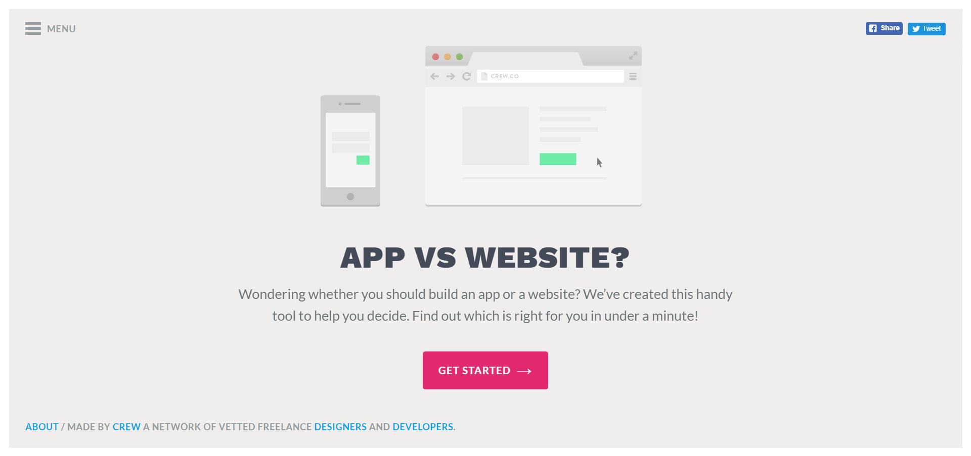 App vs. Website website image