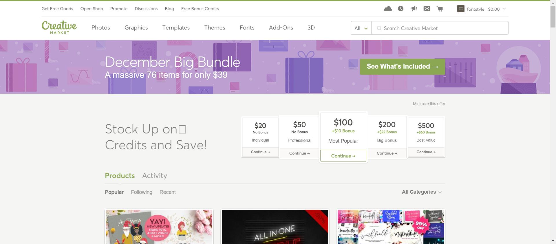 Creative Market website image