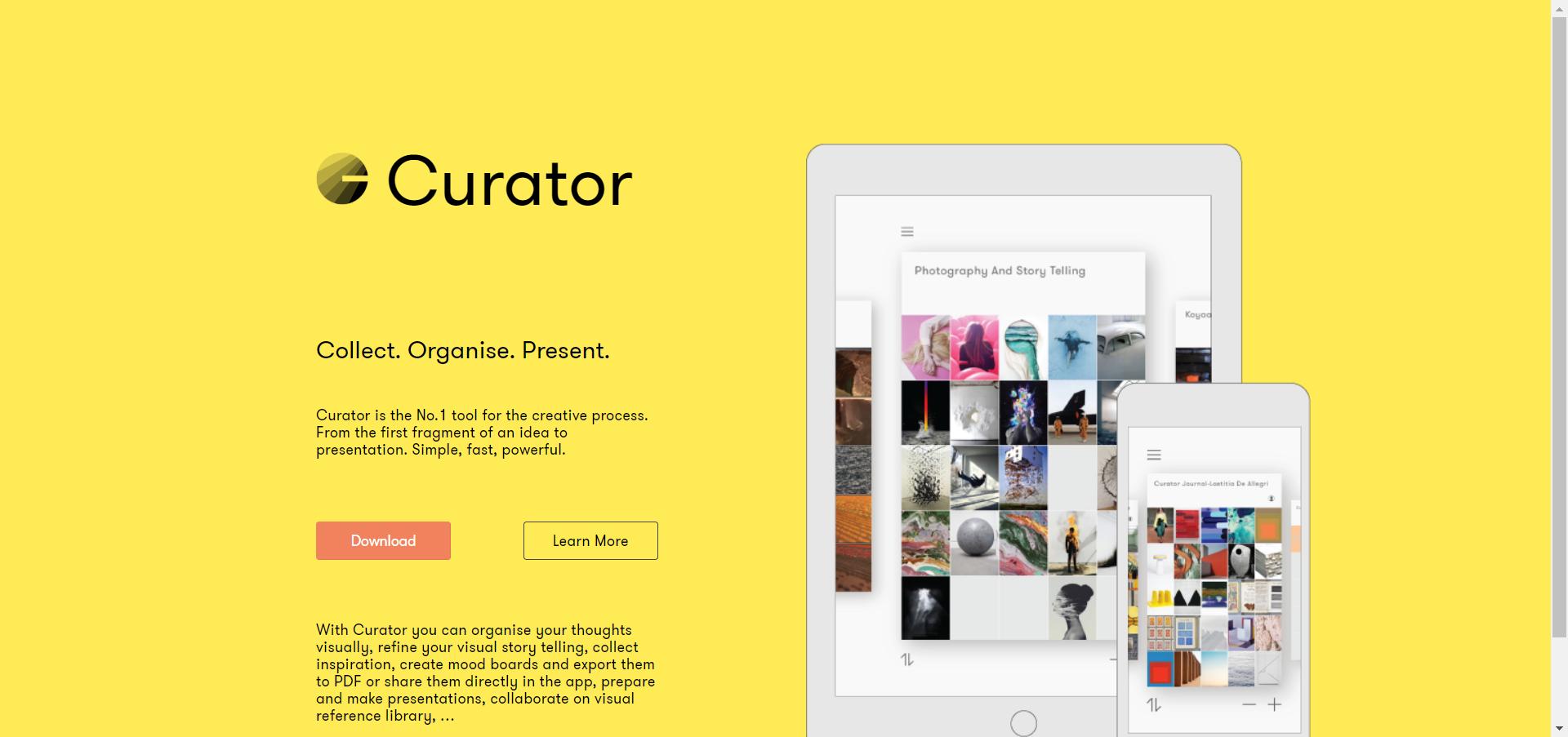 Curator website image