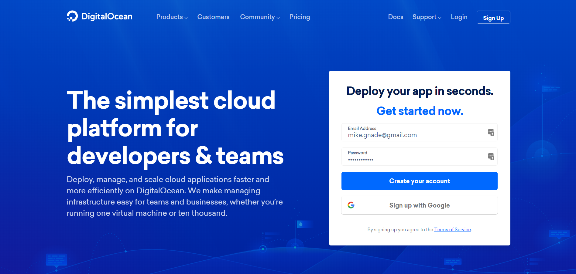 Digital Ocean website image