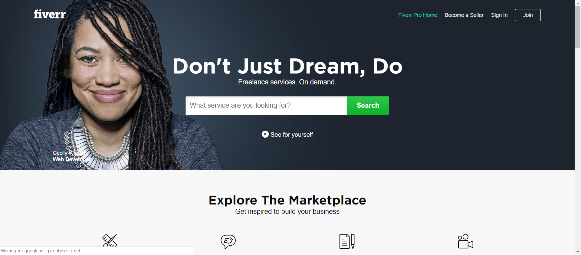 Fiverr website image