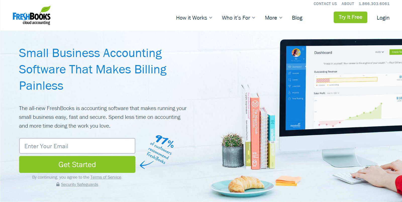 FreshBooks website image