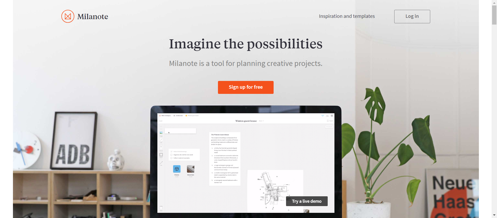Milanote website image