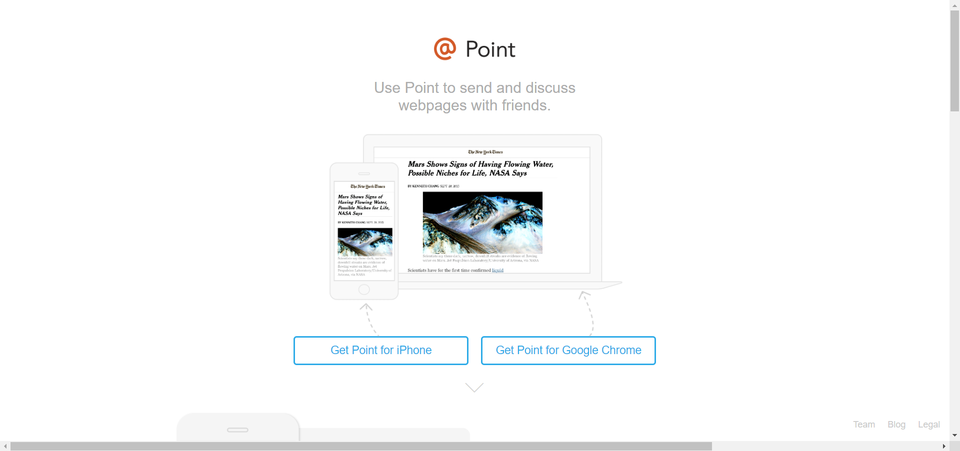 Point website image