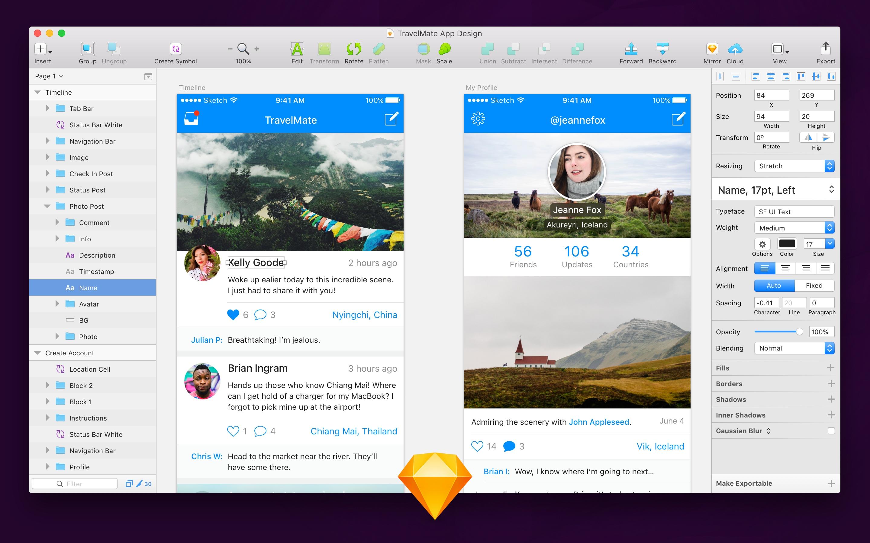 Sketch App website image