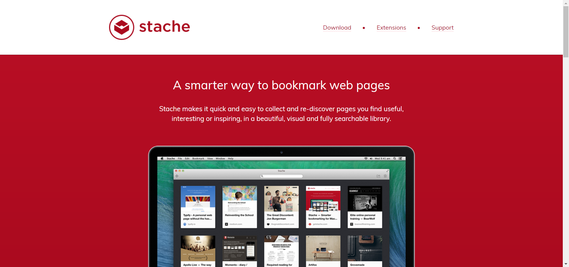 Stache website image