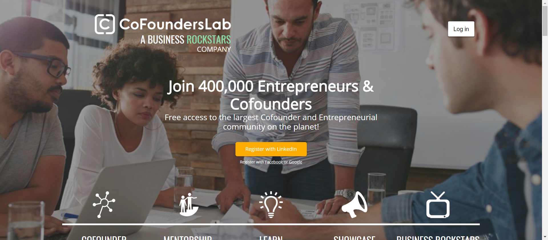 CoFoundersLab website image