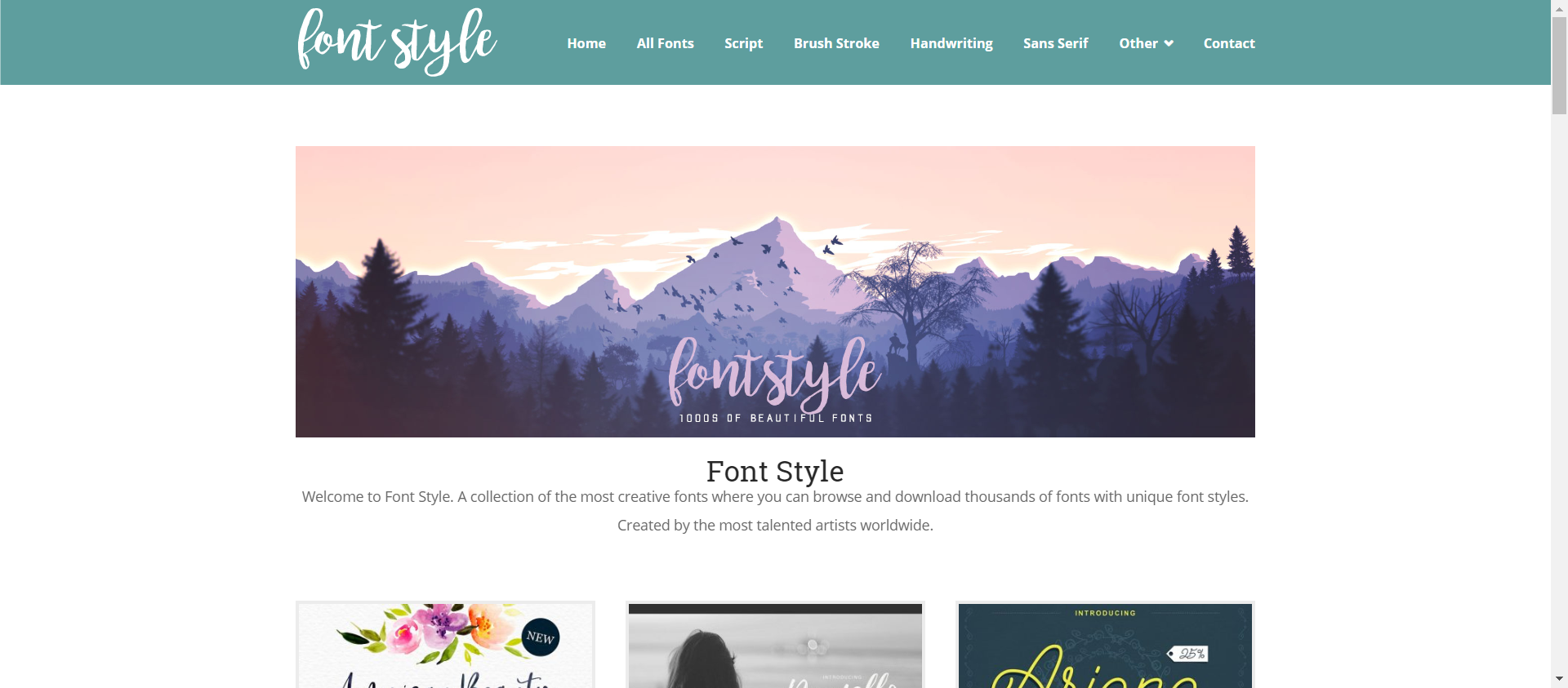 Font style website image
