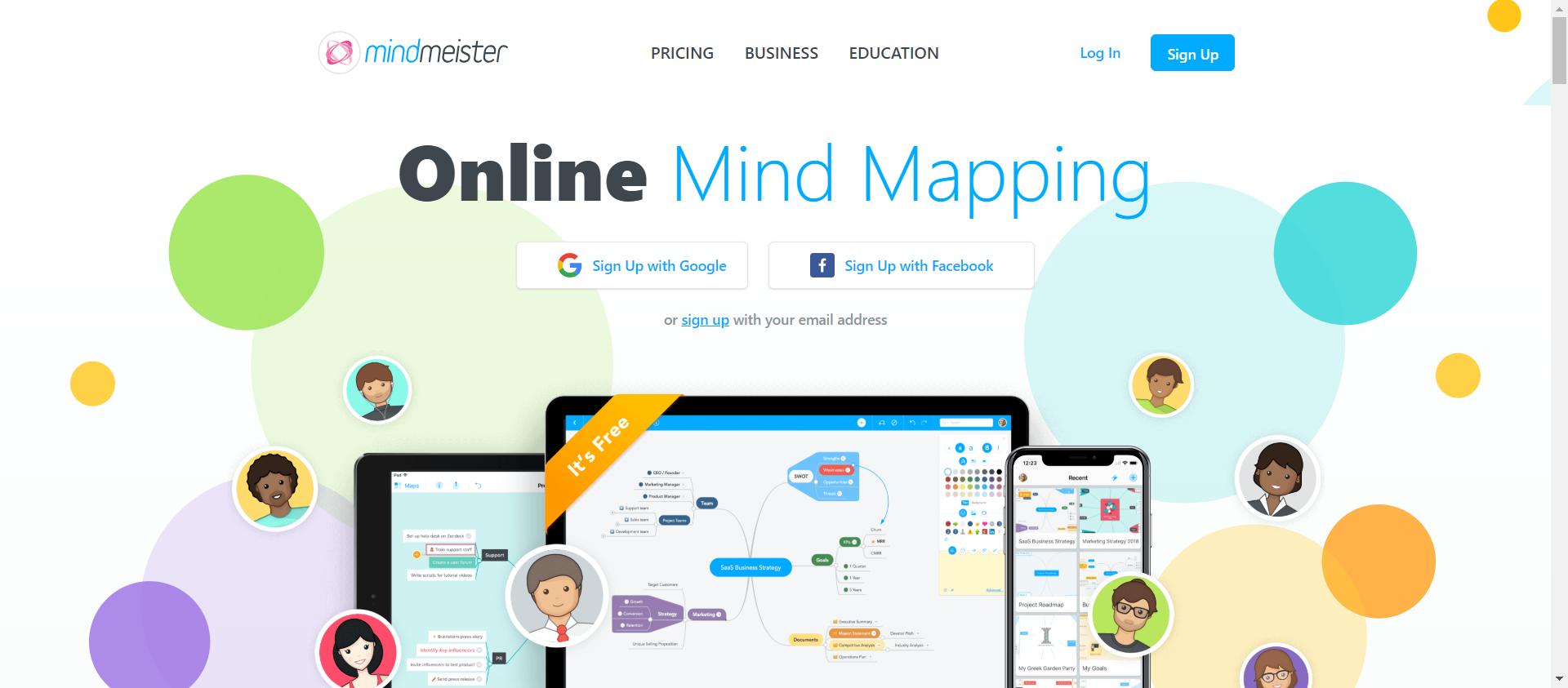 MindMeister website image