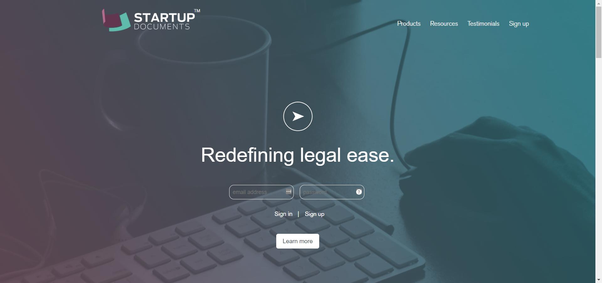 Startup Docs website image
